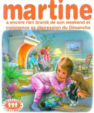 Martine commence sa depression du dimanche La plume de nox